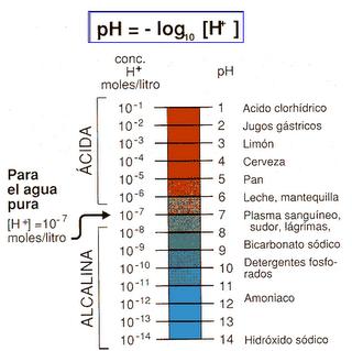 Acido, neutro y alcalino (pH)